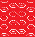 one line lips connection pattern seamless white vector image