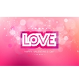 paper inscription love cut on a pink background vector image