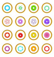 photo diaphragm icons circle vector image