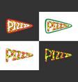 pizza lettering logo vector image