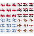 Poland Egypt Argentina Alderney Set of 36 flags of vector image vector image