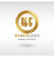 premium ae logo in gold beautiful logotype design