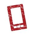 Red grunge smartphone logo vector image