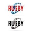 rugfont design logo sport graphic vector image