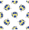 Seamless pattern with handball balls vector image vector image