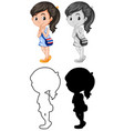 set thai character vector image