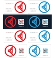 speaker business card 1 vector image vector image