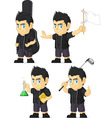 Spiky Rocker Boy Customizable Mascot 6 vector image vector image