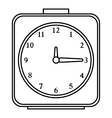 Square alarm clock icon outline style vector image vector image
