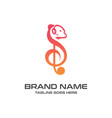 squirrel music logo vector image vector image