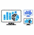 statistics monitoring mosaic icon circles vector image vector image
