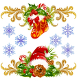 stocking santa vector image