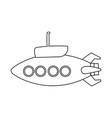 submarine with periscope bathyscaphe cartoon vector image vector image