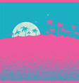 sunset on tropical palm island nature landscape vector image vector image