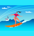 surf wave concept 02 vector image vector image