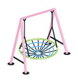 swing with suspended round net seat isolated on vector image vector image