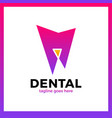 teeth dental line logotype luxury royal metal gold vector image vector image