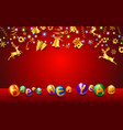 text of new year and christmas festival vector image