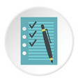 to do list icon circle vector image vector image
