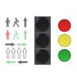 traffic lights elements vector image vector image