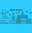 united states buffalo winter holidays skyline vector image vector image