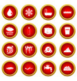water icon red circle set vector image vector image
