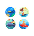 water sport icon set vector image vector image