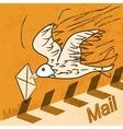 yellow bird letter vector image vector image