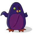 Zombie penguin cartoon vector image vector image