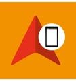 cursor mobile phone navigation vector image