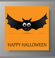 halloween gift card with flying bats vector image