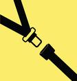 seat belt vector image