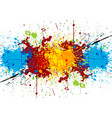 abstract bright watercolor stains vector image vector image
