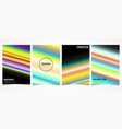 abstract colorful line trendy brochure cover vector image vector image