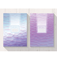 Abstract polygonal with square text lavender vector image vector image