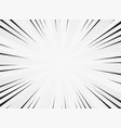 abstract sun burst line comic white color vector image vector image