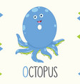 alphabet letter o and octopus vector image vector image