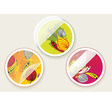 autumn offers stickers set vector image