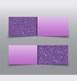 banner purple sequin mosaic sequin glitter sparkle vector image