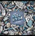 bathroom hand drawn doodles vector image vector image