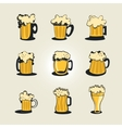 beer collection vector image vector image
