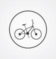 bike outline symbol dark on white background logo vector image vector image