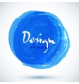 Bright blue watercolor circle vector image vector image