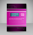 Brochure template Editable A4 poster for design vector image
