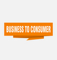 business to consumer vector image vector image