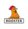 chicken rooster logo template place for text vector image vector image
