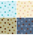 collection mosaic tile seamless patterns vector image