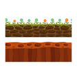 cross section ground slice isolated some piece vector image vector image