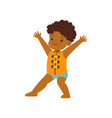 cute little african american boy wearing life vector image