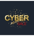 Cyber Monday Sale background Golden label Cyber vector image vector image